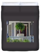 Fern On Front Porch Duvet Cover