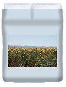 Fields Of Safflowers Duvet Cover