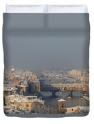 Firenze Under The Snow Duvet Cover