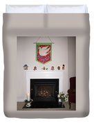 Fireplace At Christmas Duvet Cover