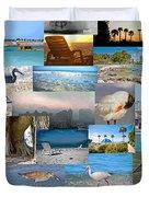 Florida Collage Duvet Cover