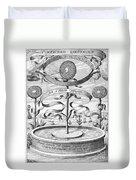 Flower Clock, 1643 Duvet Cover