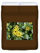 Flower Rudbeckia Fulgida In Full Duvet Cover by Ted Kinsman