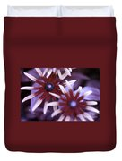 Flower Rudbeckia Fulgida In Uv Light Duvet Cover by Ted Kinsman