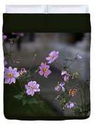 Flowers At The Cloisters Duvet Cover