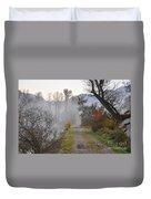 Foggy Road Duvet Cover