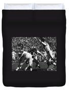 Football Game, 1965 Duvet Cover