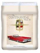 Ford Avertisement, 1959 Duvet Cover