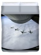 Formation Of Luftwaffe F-4f Phantom IIs Duvet Cover