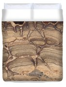 Fossil Stromatolite Duvet Cover