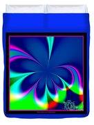 Fractal 24 Floral Fleur De Lis Duvet Cover