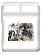 France: Paris Riot, 1851 Duvet Cover