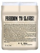 Freedom To Slaves Duvet Cover by Photo Researchers, Inc.
