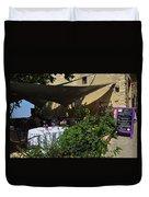 French Restaurant Duvet Cover