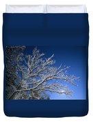 Fresh Snowfall Blankets Tree Branches Duvet Cover