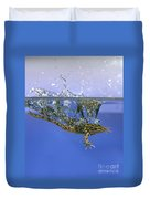 Frog Jumps Into Water Duvet Cover