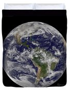 Full Earth Showing North America Duvet Cover