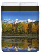 Full Moon Over East Beckwith Mountain Duvet Cover