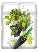 Gardening Tools And Plants Duvet Cover