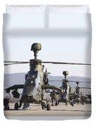 German Tiger Eurocopters At Fritzlar Duvet Cover