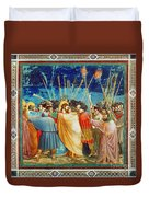 Giotto: Betrayal Of Christ Duvet Cover
