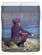 Girl At A Lake Duvet Cover by Joana Kruse