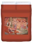 Gods Entertaining Mahavira Duvet Cover