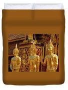 Golden Buddhas Duvet Cover