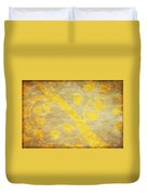 Golden Tree Pattern On Paper Duvet Cover