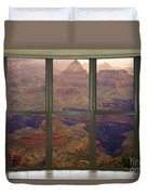 Grand Canyon Springtime Bay Window View Duvet Cover