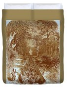 Grants Canal, 1862 Duvet Cover