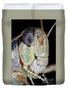 Grasshopper With Parasitic Mite Duvet Cover