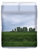 Gray Clouds Over The Ancient Ruins Duvet Cover