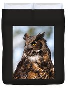 Great Horned Owl Duvet Cover