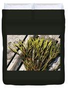 Green Fleece Seaweed Duvet Cover