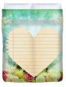 greeting card Valentine day Duvet Cover