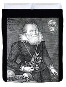 Gregor Horstius, German Physician Duvet Cover by Science Source