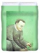 Gregor Mendel, Father Of Genetics Duvet Cover