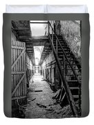 Grim Cell Block In Philadelphia Eastern State Penitentiary Duvet Cover