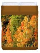Hang Gliding The Autumn Colors Duvet Cover