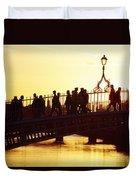 Hapenny Bridge, Dublin, Co Dublin Duvet Cover