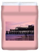 Hastings Pier After The Fire Duvet Cover by Dawn OConnor