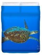Hawksbill Sea Turtle, Kimbe Bay, Papua Duvet Cover
