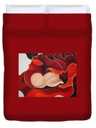 Healing Painting Baby Sleeping In A Rose Duvet Cover
