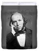 Herbert Spencer, English Polymath Duvet Cover