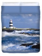 Hook Head, County Wexford, Ireland Duvet Cover