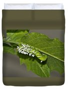 Hornworm With Braconid Wasp Parasites 2 Duvet Cover