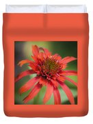 Hot Papaya Coneflower Squared Duvet Cover