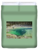 Hot Springs Yellowstone National Park Duvet Cover