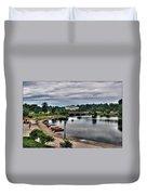 Hoyt Lake Delaware Park 0005 Duvet Cover